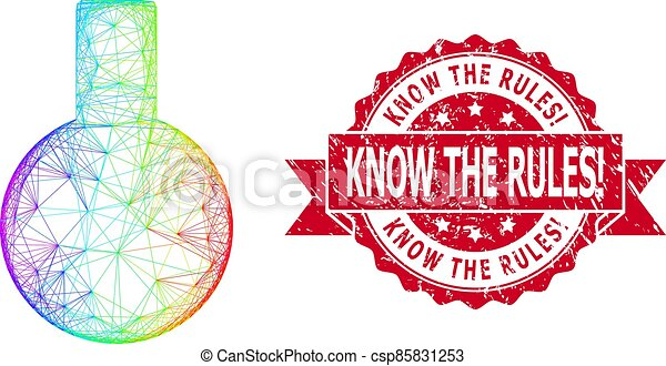 Distress Know the Rules! Stamp Seal and LGBT Colored Linear Glass Flask - csp85831253