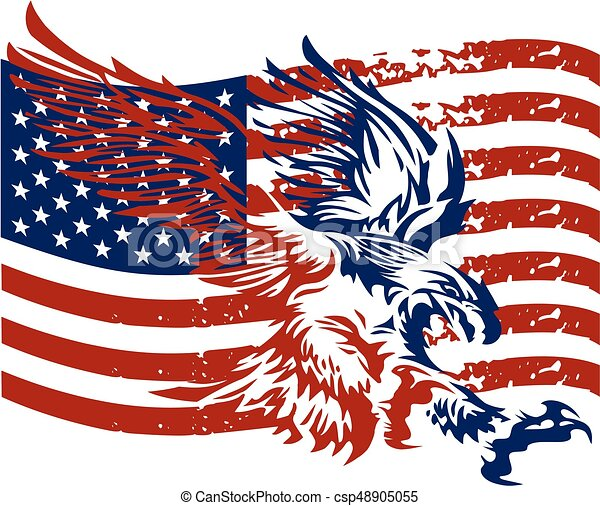 distressed american eagle with flag design for team or clipart rh canstockphoto com eagle holding american flag clip art american bald eagle clip art