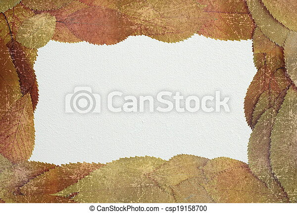 distressed autumn backdrop with place for text - csp19158700