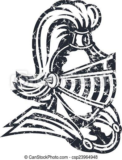 distressed knight - csp23964948