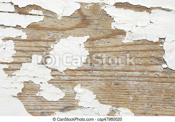 Distressed Wood Texture Extreme Peeling White Painted