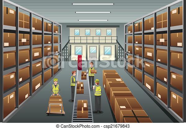 Distribution warehouse - csp21679843