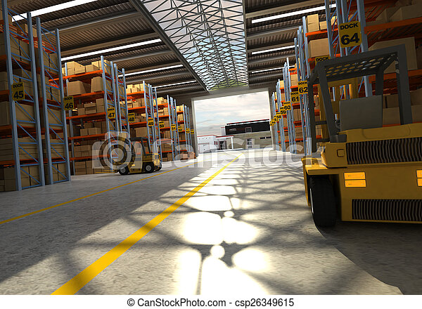 Distribution warehouse - csp26349615