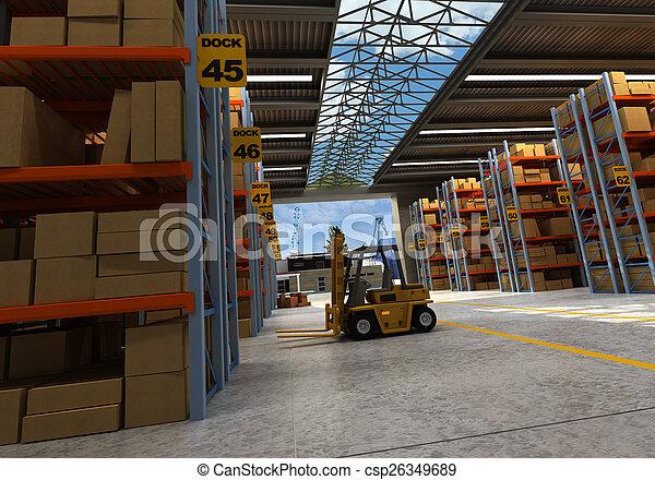 Distribution warehouse - csp26349689