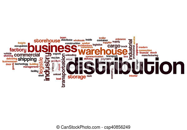 Distribution word cloud - csp40856249