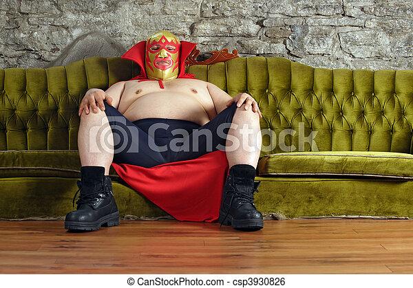 divan, mexicain, lutteur, séance - csp3930826