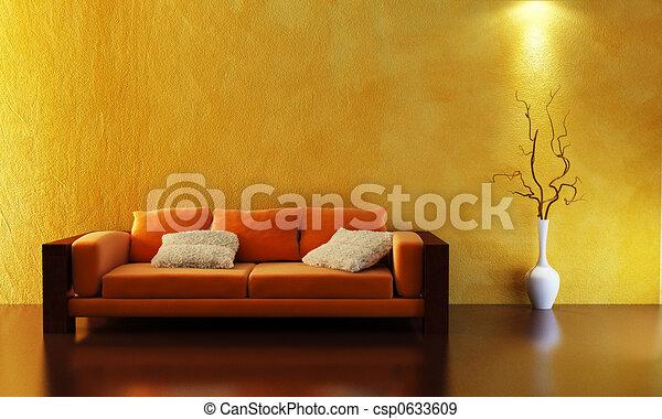 divano, 3d, interpretazione - csp0633609