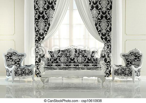 Divano Barocco Moderno.Divano Moderno Reale Due Disegno Modello Interno Poltrone Barocco Apartment Mobilia