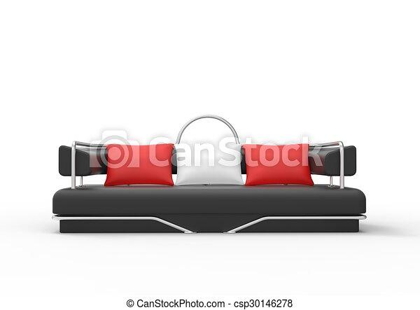 Divano Rosso Cuscini : Divano nero cuscini rosso. cuscini divano nero fronte bianco