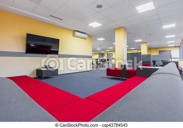 divano, rilassare, biblioteca, zona - csp43784543