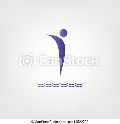 Dive Icon - csp11522730