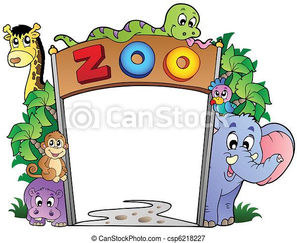 divers, entrée, animaux, zoo - csp6218227