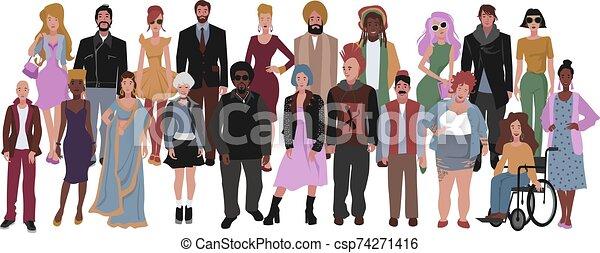 divers, groupe multiracial, diversity., gens., multiculturel, social - csp74271416