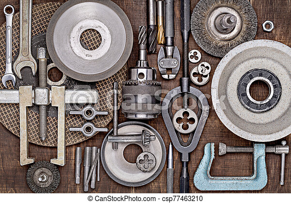 divers, photo, métal, locksmithing., journalier, outils, réparation, work. - csp77463210