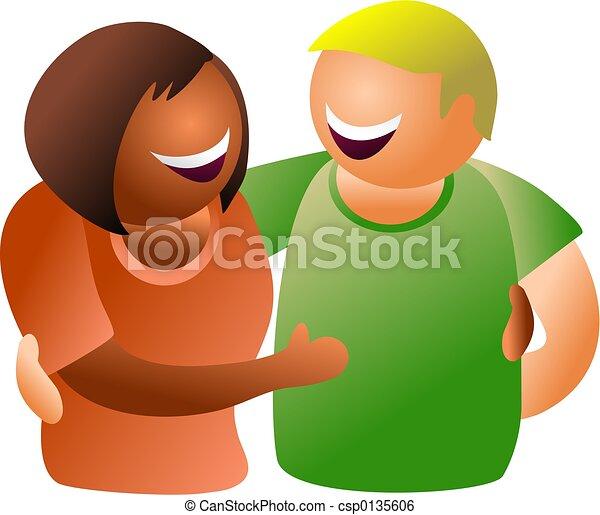 diverse couple - csp0135606