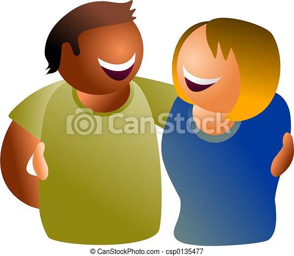 diverse couple - csp0135477