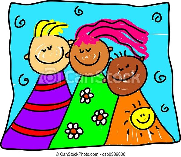 diverse friends - csp0339006