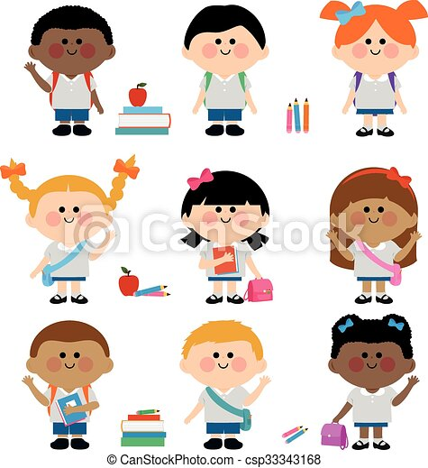 diverse group of children students a happy multi ethnic