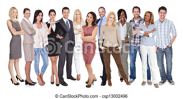 Diverse group of people - csp13002496