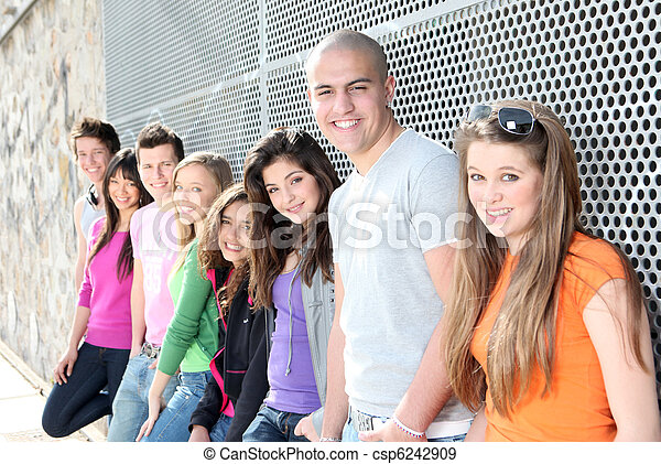 diverse group of students or teens - csp6242909