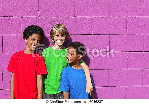 diverse kids - csp6046237