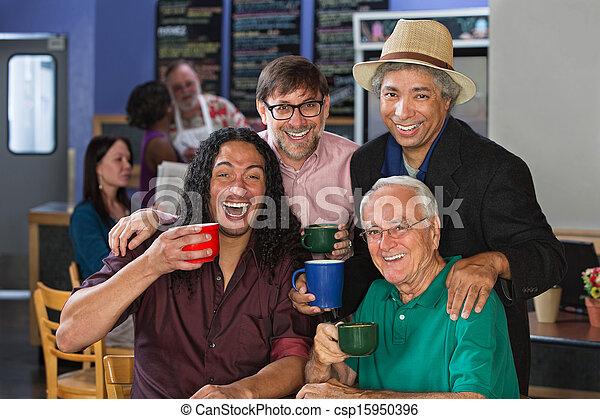 Diverse Men Celebrating - csp15950396