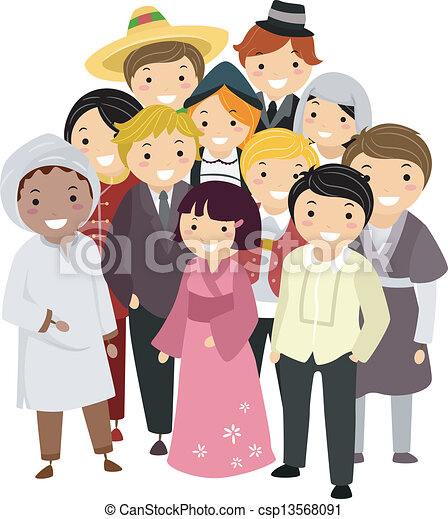 Diverse National Costumes - csp13568091