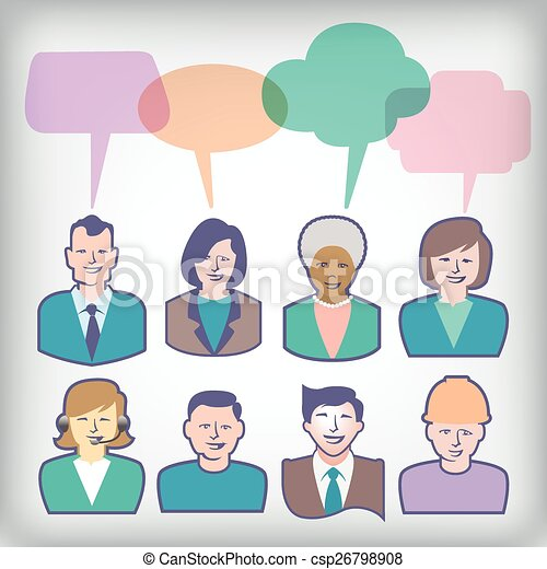 Diverse People Icons - csp26798908