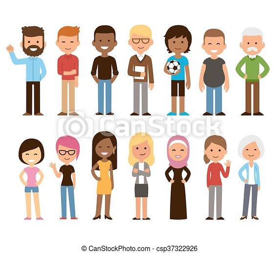 Diverse people set - csp37322926