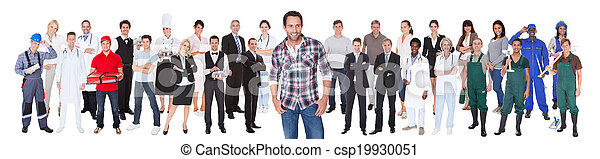 Diverse People With Different Occupations - csp19930051