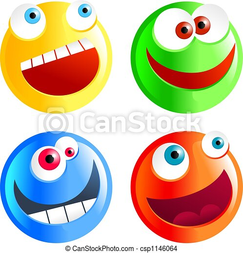 diverse smilies - csp1146064