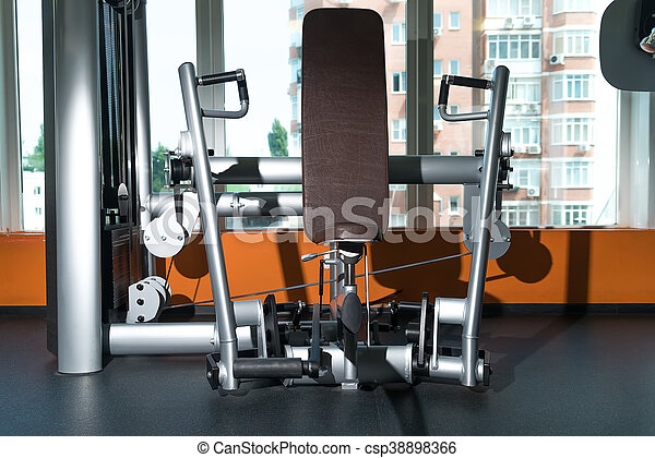 Diverse training equipment at the gym room various equipment