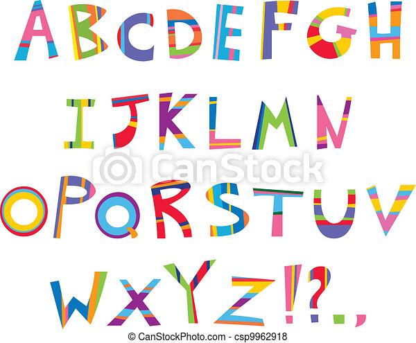 Alfabeto divertido - csp9962918