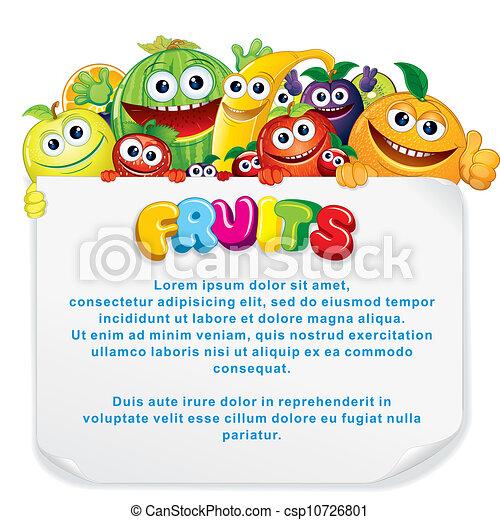 Señal de frutas divertidas - csp10726801