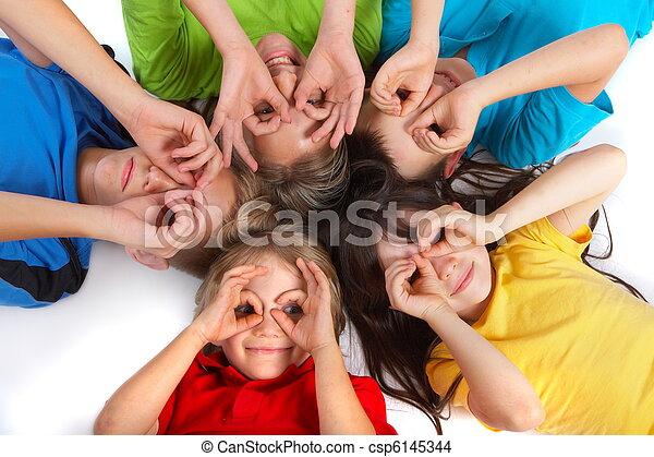 diversión, niños, teniendo - csp6145344