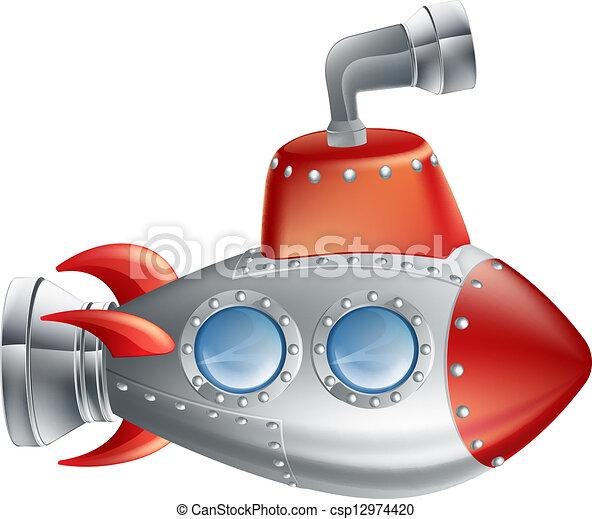 Un submarino divertido - csp12974420