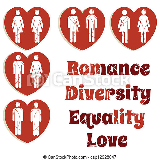 La igualdad del amor y los gráficos de diversidad - csp12328047