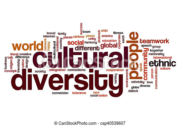Nube de palabra de diversidad cultural - csp40539607