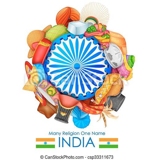 diversidade, unidade, índia - csp33311673