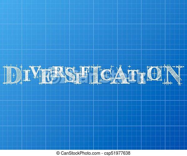 Diversification word blueprint diversification text hand drawn on diversification word blueprint csp51977638 malvernweather Gallery