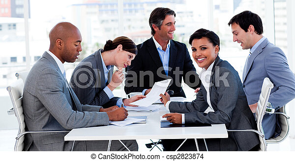 diversità, affari, esposizione, gruppo, etnico, riunione - csp2823874