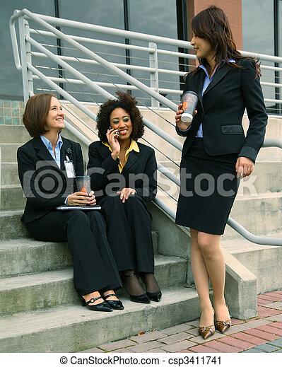 Diversity Businesswoman Discussing - csp3411741