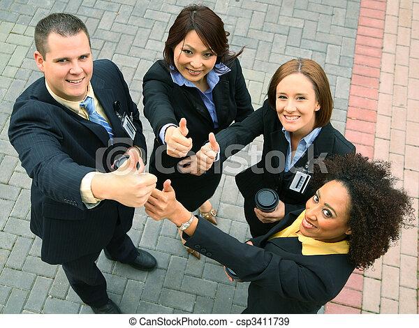 Diversity Group Showing Ok Sign - csp3411739