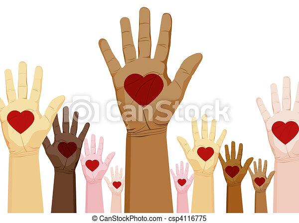 Diversity Hands - csp4116775