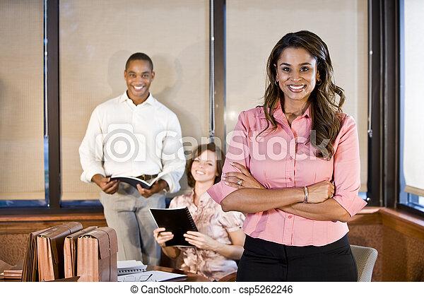 Diversity in workplace, boardroom meeting - csp5262246