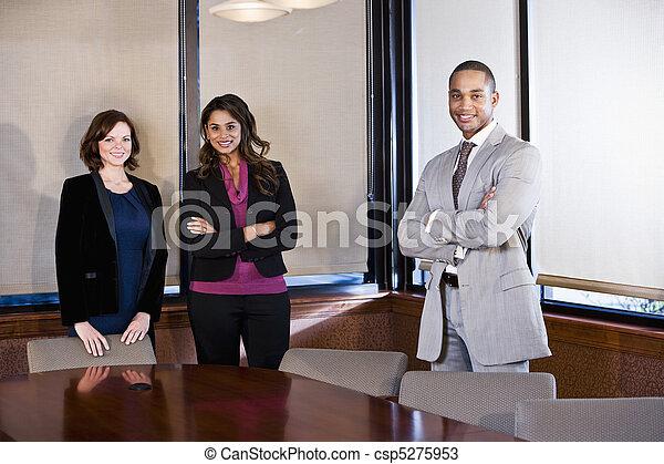 Diversity in workplace, boardroom meeting - csp5275953