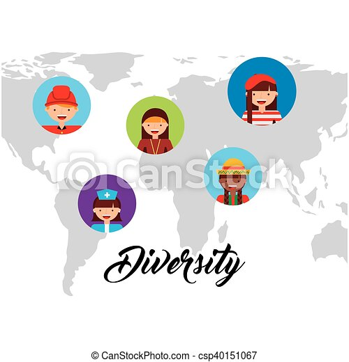Diversity of world cultures vector illustration design clip art diversity of world cultures csp40151067 publicscrutiny Choice Image