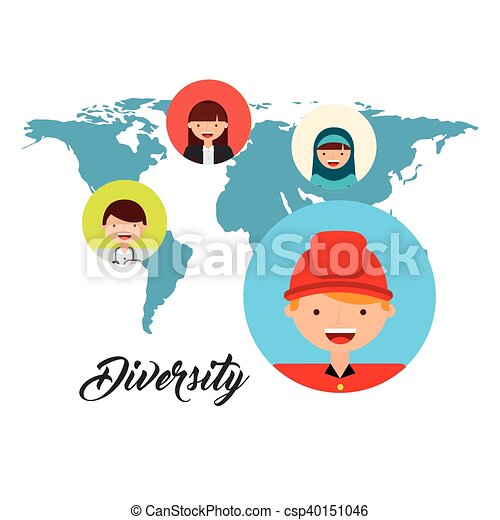 Diversity of world cultures vector illustration design diversity of world cultures csp40151046 publicscrutiny Choice Image