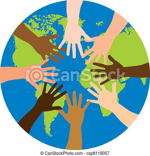 diversity over world - csp8119057