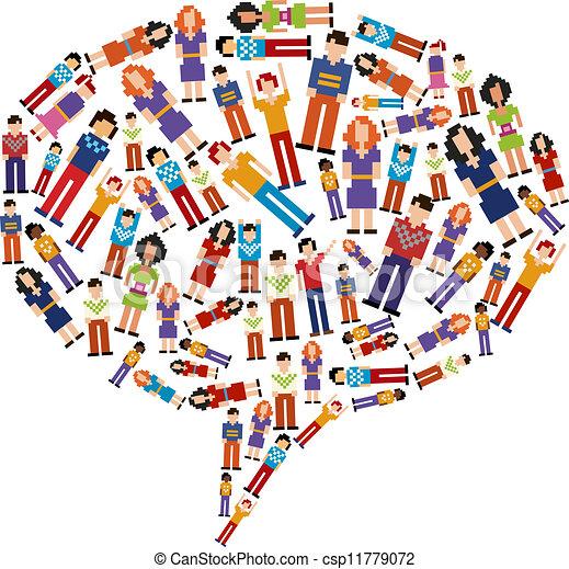 diversity tech people social media bubble isolated it vectors rh canstockphoto com  free clipart diversity